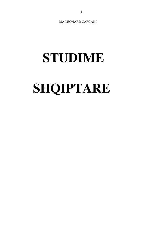 1 MA.LEONARD CARCANI STUDIME SHQIPTARE