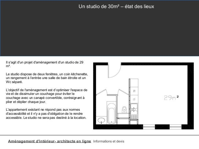 studio 30m2 e xmeple d 39 am nagement. Black Bedroom Furniture Sets. Home Design Ideas