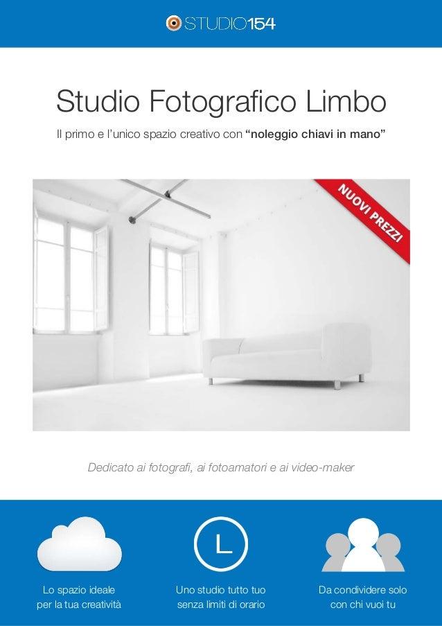 """Studio Fotografico Limbo  Il primo e l'unico spazio creativo con """"noleggio chiavi in mano""""  Dedicato ai fotografi, ai foto..."""