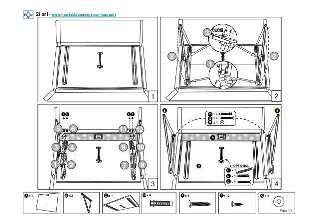 Folding Table Standard   Assembly Instructions Rev. 05. 2i Srl    Www.newtableconcept.com/support .