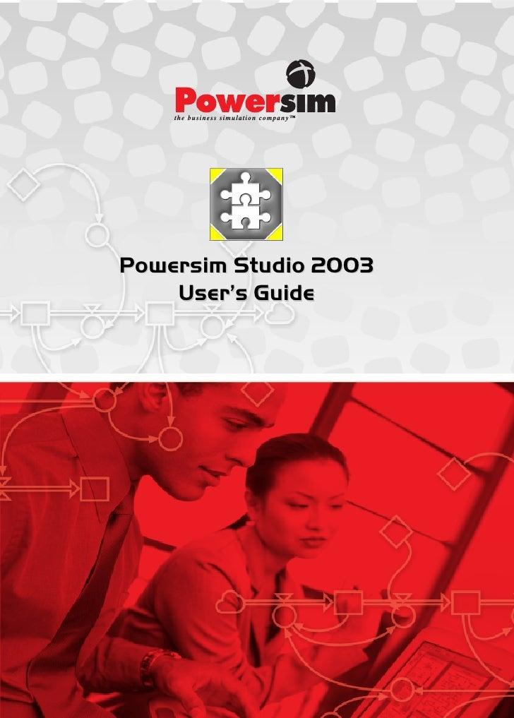 Powersim Studio 2003    User's Guide