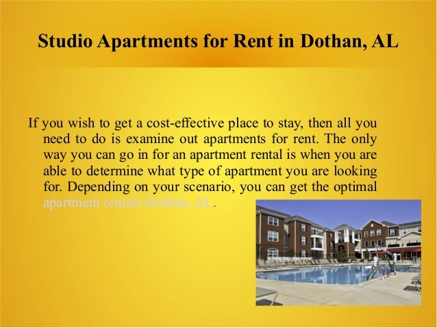 Studio Apartments For Rent In Dothan Al