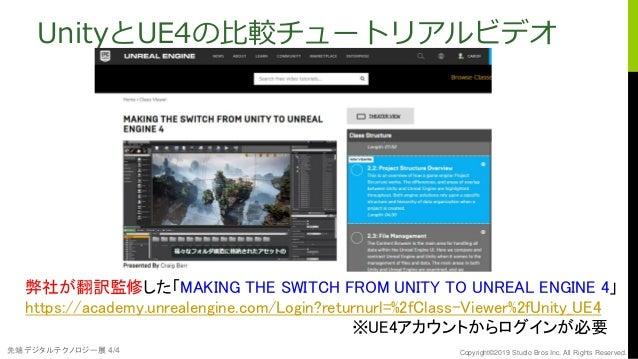 Unreal Engine 4 Education 2 UnityとUE4の違いは?