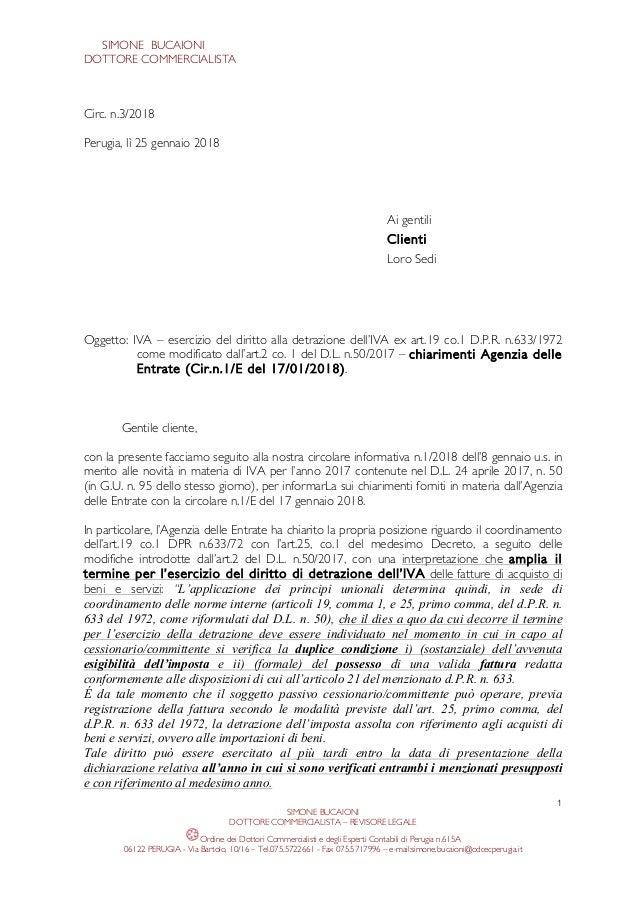 IVA - esercizio del diritto alla detrazione dell'imposta ...
