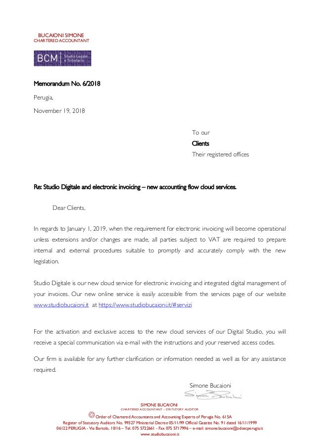 BUCAIONI SIMONE CHARTERED ACCOUNTANT SIMONE BUCAIONI CHARTERED ACCOUNTANT – STATUTORY AUDITOR Order of Chartered Accountan...