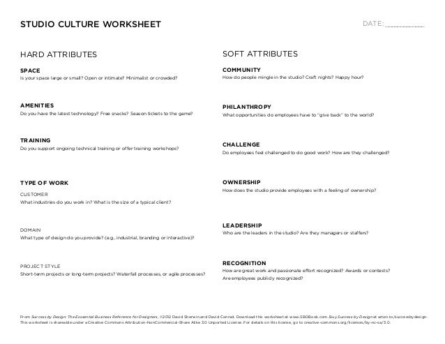 STUDIO CULTURE WORKSHEET                                                                                                  ...