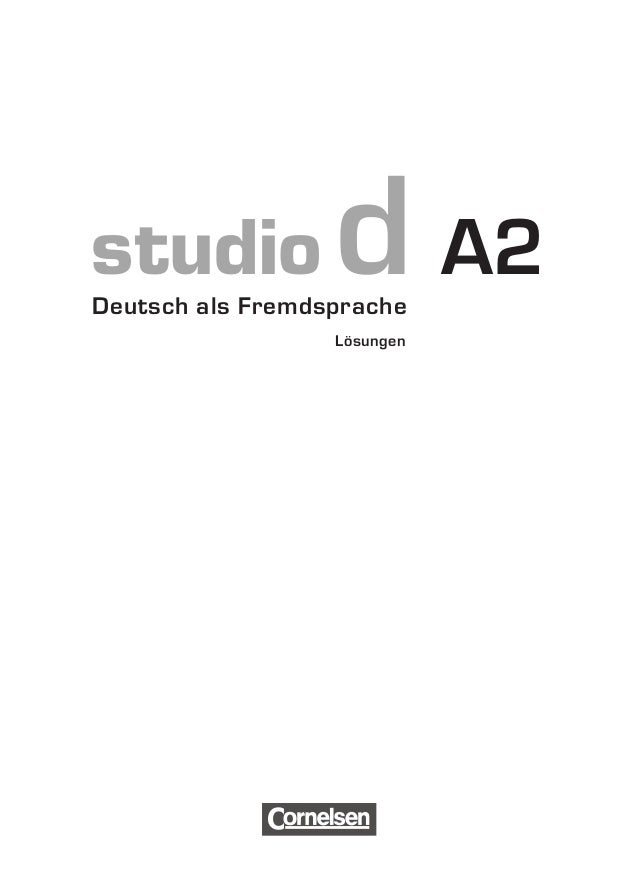 studiod A2  Deutsch als Fremdsprache  Lösungen