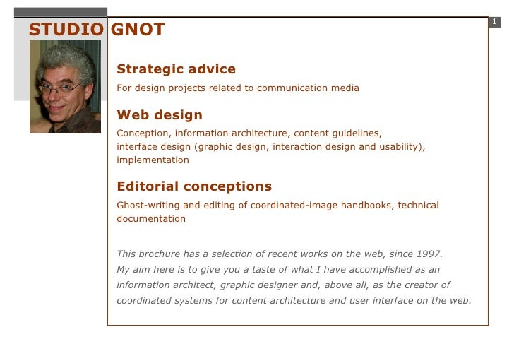 STUDIO GNOT Strategic advice For design projects related to communication media Web design Conception, information archite...