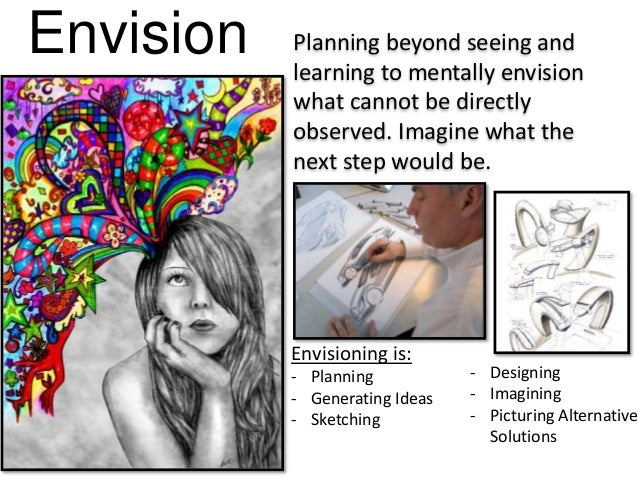 Envision Planning beyond seeing and learning to mentally envision what cannot be directly observed. Imagine what the next ...