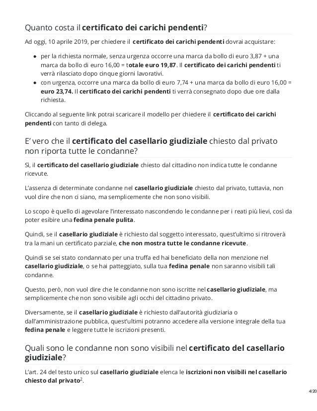 SCARICA AUTOCERTIFICAZIONE CARICHI PENDENTI