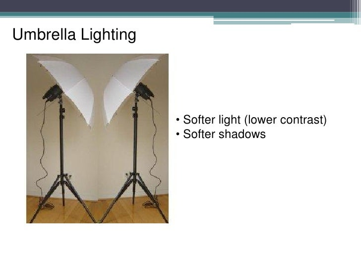 Umbrella ...  sc 1 st  SlideShare & Studio Lighting - Setups u0026 Examples (reflector umbrella u0026 softbox)