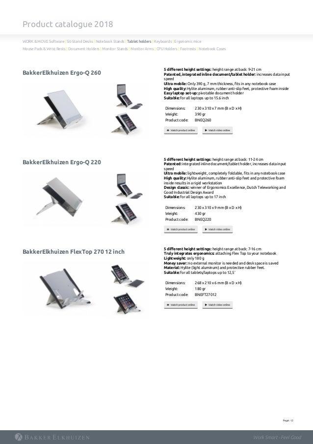 Studio line ergonomic solutions product catalogue