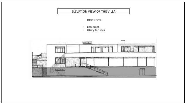 Elevation Plan App : Villa tugendhat