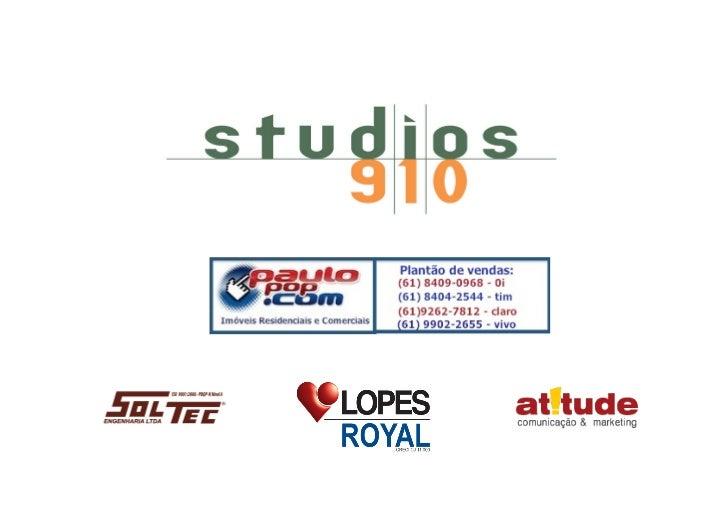"""!""""#$%&#• Destinação Comercial (Studios).• Região consolidada SGAN 910, em frente ao Parque Burle   Marx – Asa Norte.• L..."""