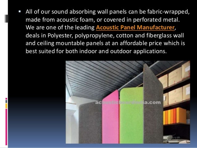 3 all of our sound absorbing wall panels