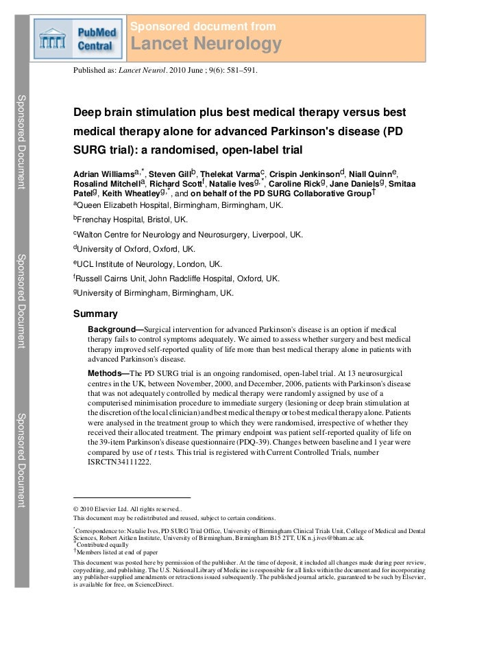 Sponsored document from                                           Lancet Neurology                     Published as: Lance...