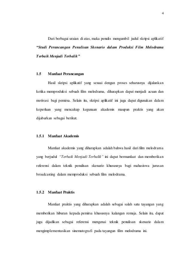 Studi Perancangan Penulisan Skenario Dalam Produksi Film Melodrama T