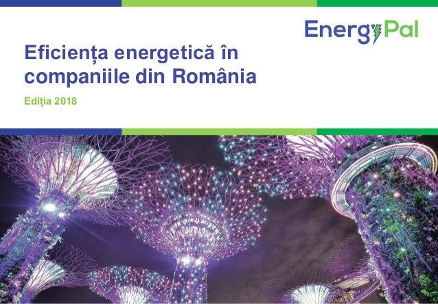 1COMPETENȚĂ. PROFESIONALISM. REZULTATE CERTE. Eficiența energetică în companiile din România Ediția 2018