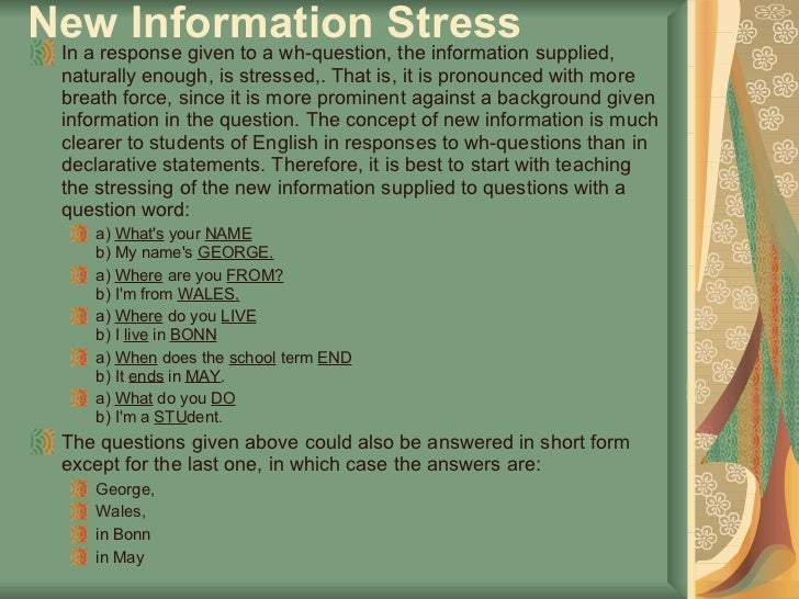 Stress and intonation - SlideShare
