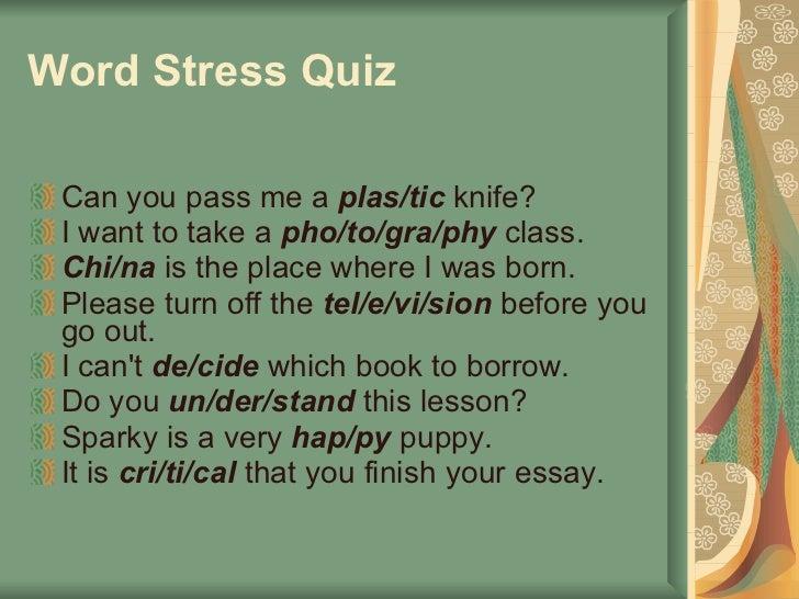 Improving English Stress and Intonation Pronunciation of ...