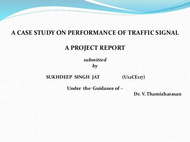 Study of urban traffic flow
