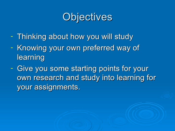 Study Skills Slide 2