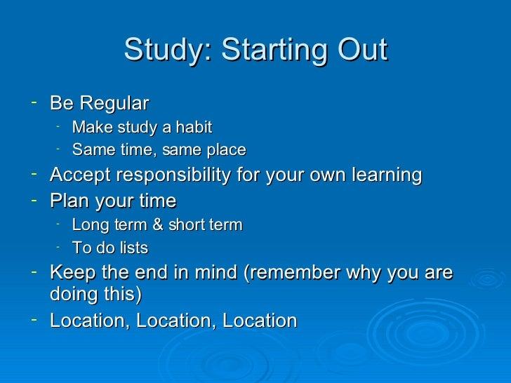Study Skills Slide 3