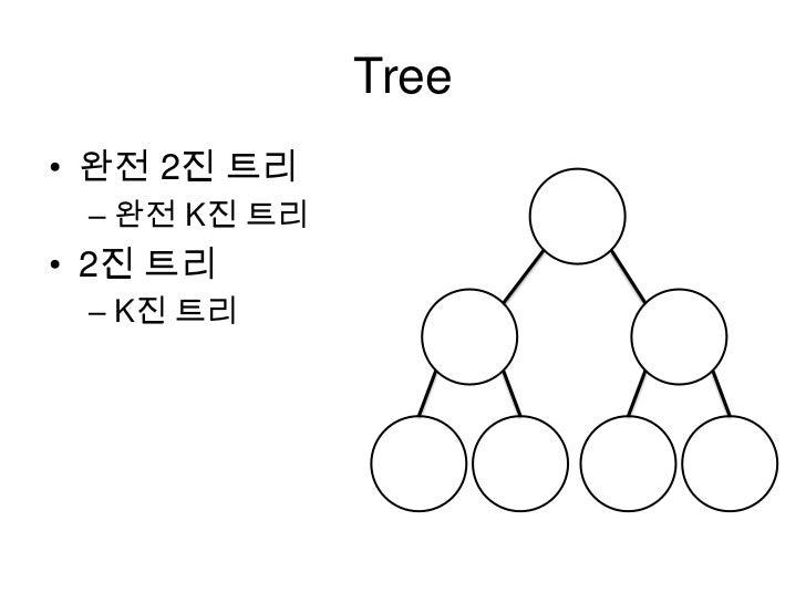 Tree<br />완전 2진 트리<br />완전 K진 트리<br />2진 트리<br />K진 트리<br />