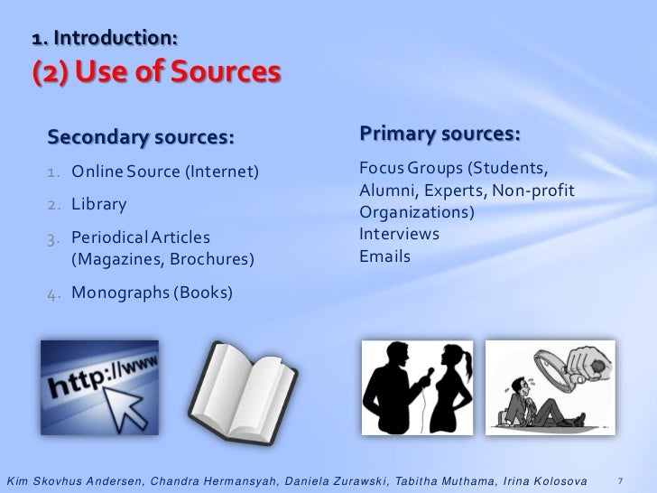 secondary sources thesis Whenever you use information from other sources you must include the author's last name and the year of publication for the source in the text, eg, (jones, 1998), and a complete reference should be listed at end of your paper.