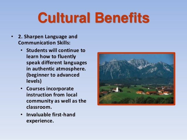 study abroad benefits essay Below is an essay on benefit of study abroad from anti essays, your source for research papers, essays, and term paper examples studying abroad offers a unique opportunity to grow academically, professionally, and personally while going on a once-in-a-lifetime adventure.