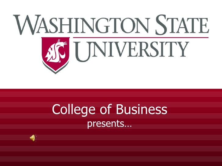 College of Business presents…
