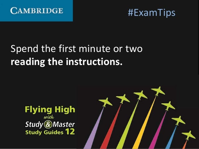 Spend the first minute or two reading the instructions. #ExamTips