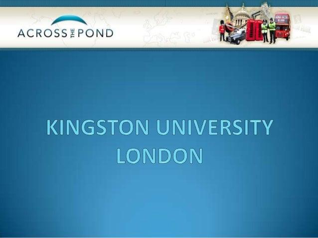 Kingston University kan tilby deg kvalitetsundervisning iLondon - trolig en av verdens mest spennende ogkulturhistorisk ri...