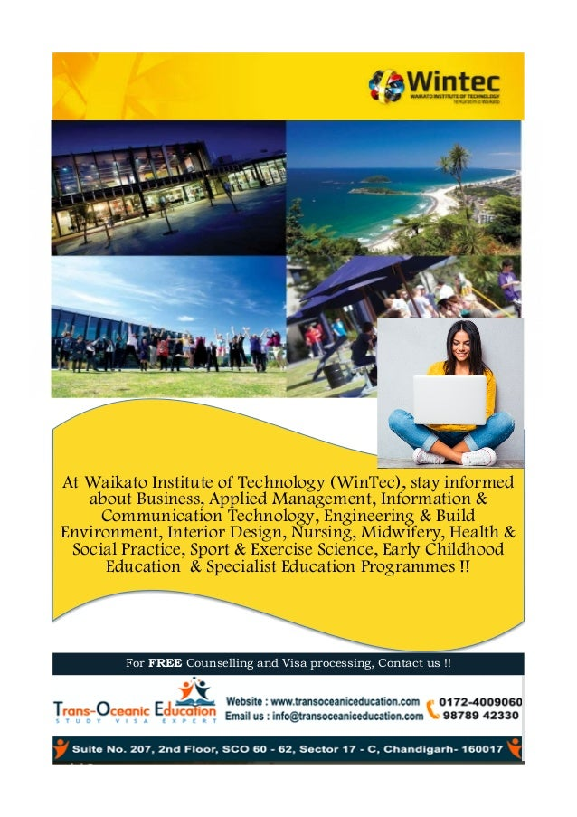 At Waikato Institute of Technology (WinTec), stay informed about Business, Applied Management, Information & Communication...