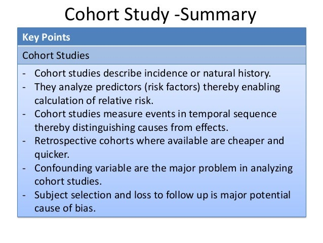 CASP Cohort | Cohort Study | Confounding