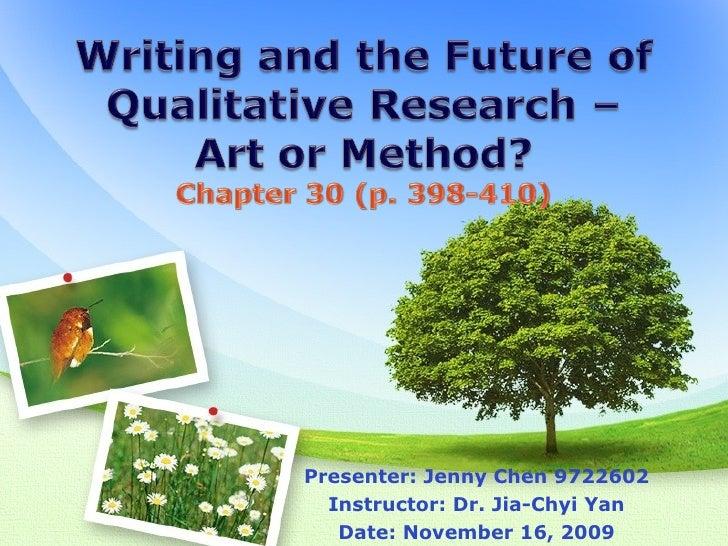 Presenter: Jenny Chen 9722602 Instructor: Dr. Jia-Chyi Yan Date: November 16, 2009