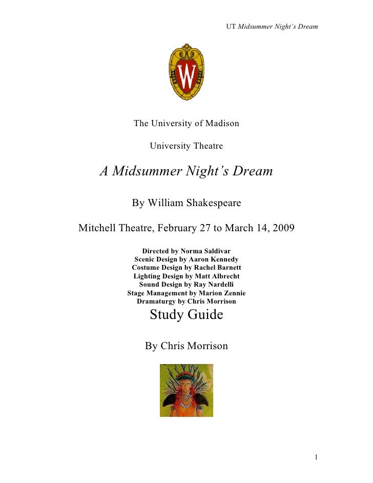 UT Midsummer Night's Dream           The University of Madison                University Theatre    A Midsummer Night's Dr...