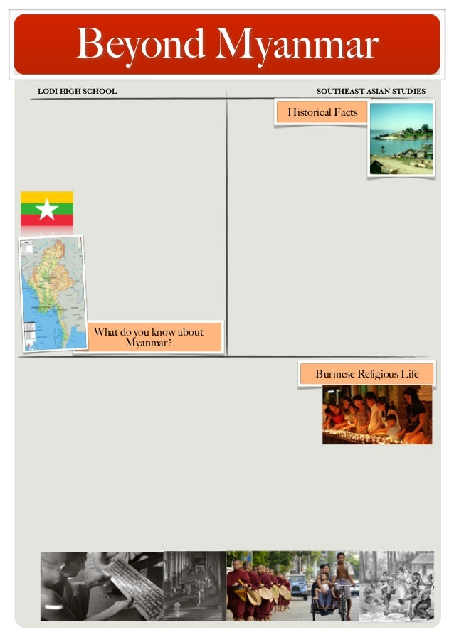 Beyond Myanmar LODI HIGH SCHOOL	  SOUTHEAST ASIAN STUDIES  Historical Facts  What do you know about Myanmar? Burmese Relig...