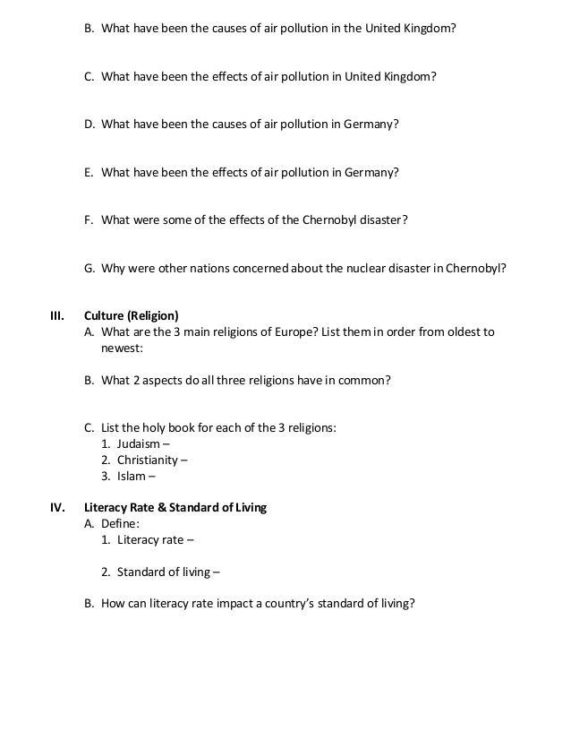 study guide geography of europe Ap human geography: a study guide is designed to help you prepare for the exam  geography was reborn in europe in the 17 th century as a broad study of both.