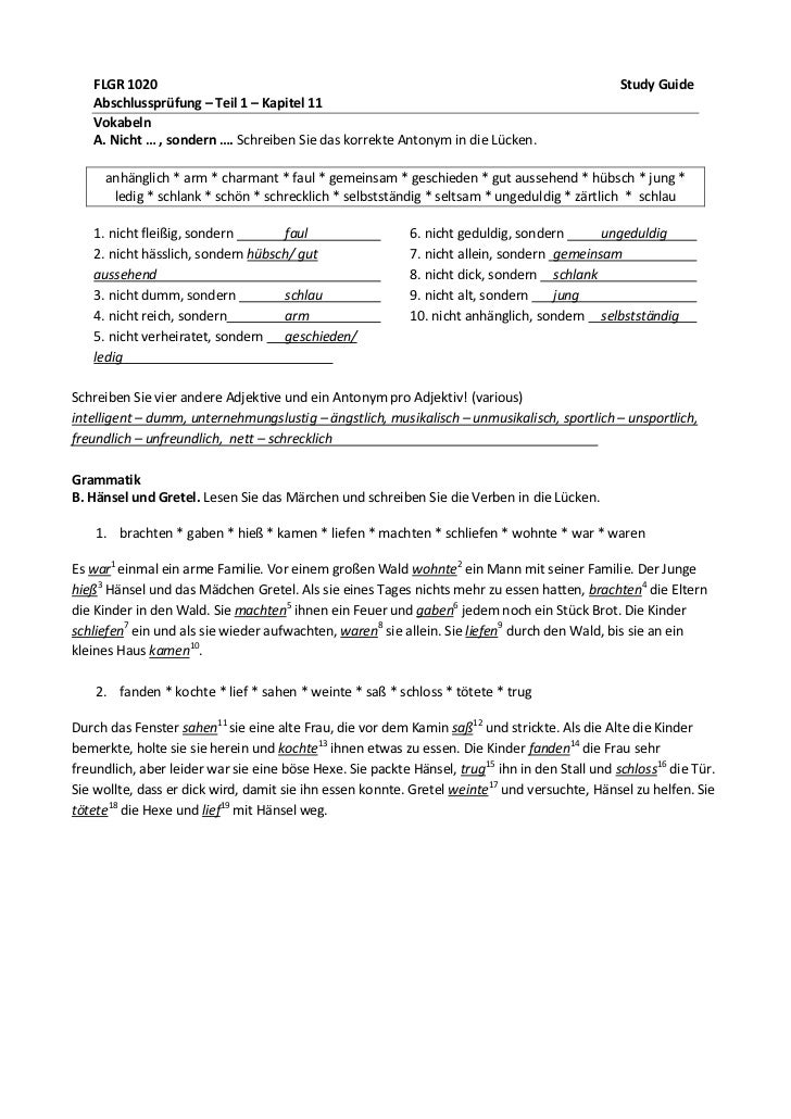 FLGR 1020                                                                                    Study Guide   Abschlussprüfun...