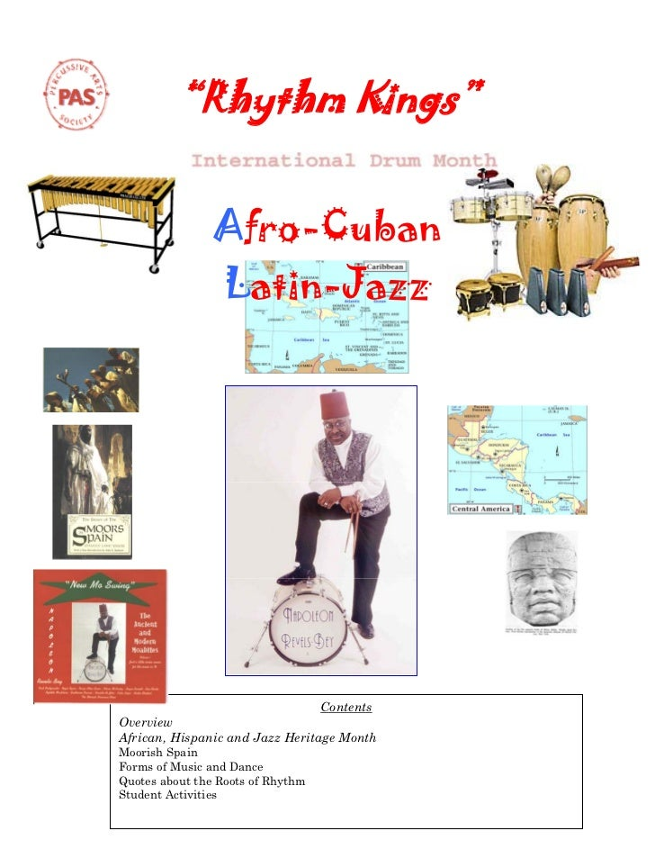 """Rhythm Kings""                Afro-Cuban                  Latin-Jazz                                 ContentsOverviewAfric..."