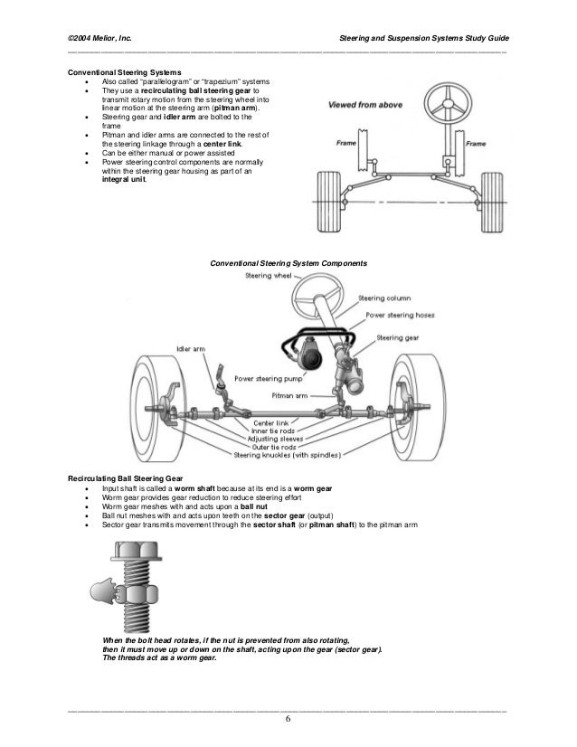 Mechanic Study Guide: Front End, Suspension & Steering ...