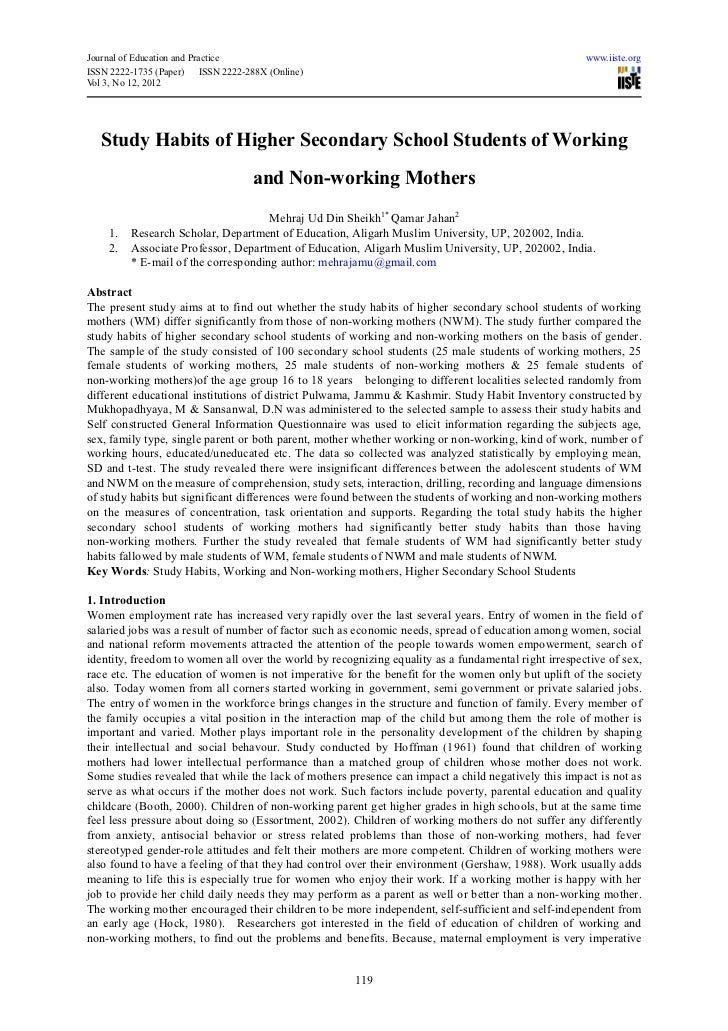 working students research paper