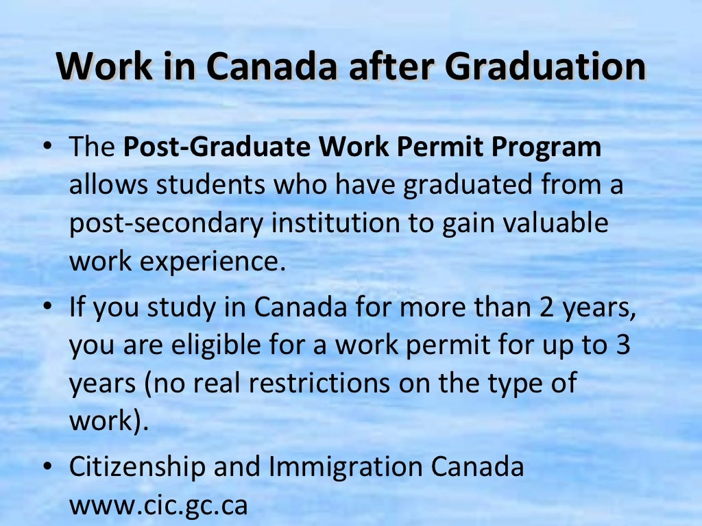 Work in Canada after Graduation