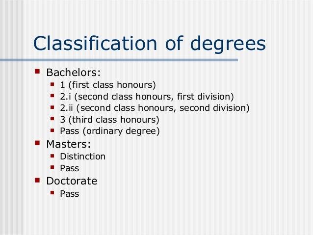 second class honours