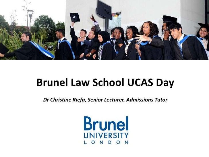Brunel Law School UCAS Day Dr Christine Riefa, Senior Lecturer, Admissions Tutor