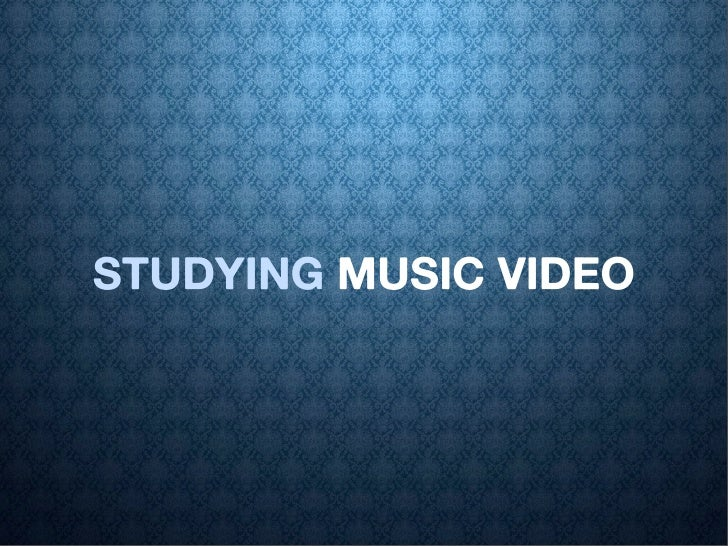 STUDYING MUSIC VIDEO