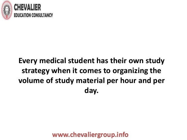 Studying Tips For Medical Studies   Study Hints For Medical