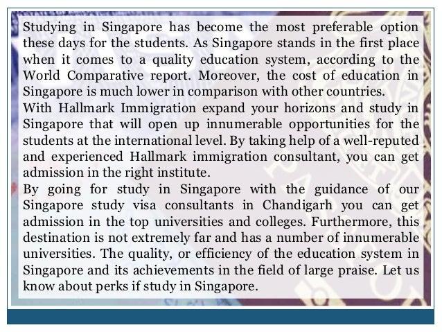 Study In Singapore | Hallmark Immigration Slide 3