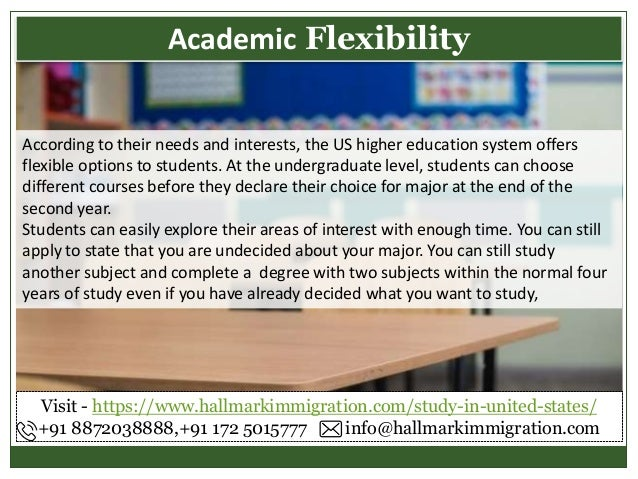 According to their needs and interests, the US higher education system offers flexible options to students. At the undergr...